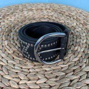 Banana Republic Black Leather Studded Belt